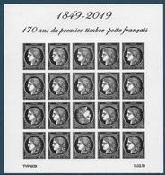 Cérès 170 Ans Du Premier Timbre Poste Français - Bloc Avec Tête Bêche (2019) Neuf** - Bloc De Notas & Hojas