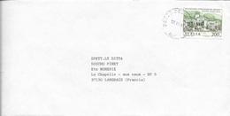 ITALIE -  TIMBRE  MILLENARIO FONDATIONE EREMO FONT AVELLANA     - 1987  -  LETTRE  -  POUR LA FRANCE - 1961-70: Marcophilie