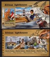 Phare Lighthouse Vuurtoren Leuchttürme Faro Fari SIERRA LEONE 2015 NEUF** MNH - Phares