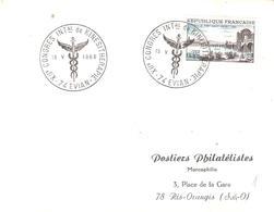 Haute Savoie :- EVIAN XII° CONGRES INTAL DE KINESITHERAPIE 15-V-1966 - Marcophilie (Lettres)