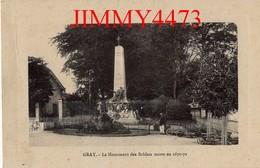 CPA - GRAY 70 Haute Saône - Le Monument Des Soldats Morts En 1870-71 - Gray