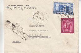 Roumanie - Lettre Recom De 1940 - Oblit Cluj ? - Exp Vers Meran - Cachet Amb Verona Brennero - Milan Bolzano - Briefe U. Dokumente