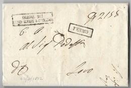 PERIODO NAPOLEONICO - DA FERMO A LORO - 22.4.1812. - Italia