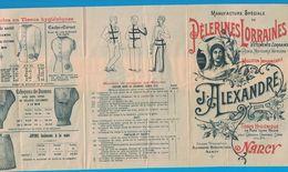DEPLIANT 6 VOLETS MANUFACTURE DE PELERINES LORRAINES J. ALEXANDRES NANCY / IMP . GERARDIN NICOLLE ET Cie VERSAILLES-NAN - Advertising
