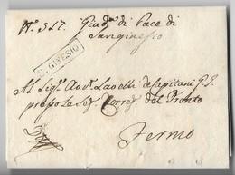 PERIODO NAPOLEONICO - DA SAN GINESIO A FERMO - 7.3.1810. - Italia