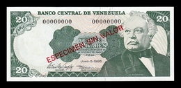 Venezuela 20 Bolívares 1995 Pick 63Es Specimen SC UNC - Venezuela