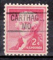 USA Precancel Vorausentwertung Preo, Locals Missouri, Carthage 802 - Vereinigte Staaten