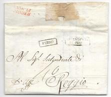 PERIODO NAPOLEONICO - DA FERMO A REGGIO - 3.11.1810. - Italia