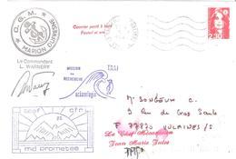 2.20 Marianne De BRIAT Oblitéré MARSEILLE + Cachet MISSION DE RECHERCHE OCEANOGRAPHIQUE - Poststempel (Briefe)