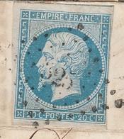 TRES RARE JAMAIS VU CHIFFRE 3 DECALE Dans LPC 325 Beaune N°14B Belle Nuance Ciel Laiteux - 1862 Napoleon III
