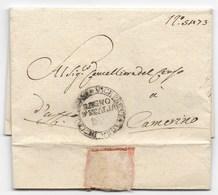 PERIODO NAPOLEONICO - DA CAMERINO PER CITTA' - 24.10.1811. - Italia