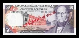 Venezuela 50 Bolívares 1995 Pick 65Es Specimen SC UNC - Venezuela