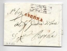 PERIODO OCCUPAZIONE DI MURAT - DA ANCONA A PERGOLA - 24.8.1814. - Italia