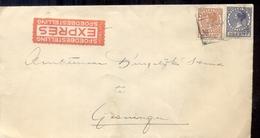 Groningen - Expres - Spoedbestelling - Spoorwegzegel - 1934 - Lettres & Documents
