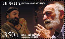 Artsakh - Armenia - Nagorno Karabakh 2019 90th Anniversary Of Sos Sargsyan Actor Director Writer MNH** - Armenia