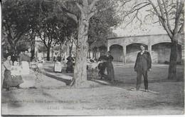 LUNEL ( Hérault)  Promenade Du Plateau Animée  - Les Arènes ( 1919 ) - Lunel