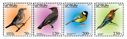 Artsakh - Armenia - Nagorno Karabakh 2019 Flora Fauna Births Common Rock Thrush Bombycillidae Tit Bee-eater MNH** - Armenia