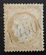 CERES No 59, 15 C Bistre,  Obl GC 4500 Bureau Supplémentaire De DIVONNE , Ain ,  TB - 1871-1875 Ceres