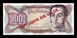 Venezuela 100 Bolívares 1992 Pick 66Es Specimen SC UNC - Venezuela
