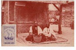EXPOSITION ORLEANS 1905 * VIGNETTE * VILLAGE NOIR * VANNIER * CASE PAILLE * PERSONNAGES * Carte Sépia - Exhibitions