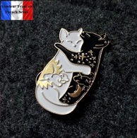 1 Pins Pin's NEUF En Métal ( Brooch ) - Chats Noir Et Blanc Cats - Animaux