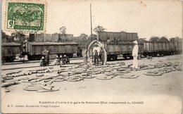 AFRIQUE --  CONGO Français - Expédition D'ivoire à La Gare De Kinshassa - Congo Français - Autres