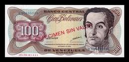 Venezuela 100 Bolívares 1998 Pick 66Gs Specimen SC UNC - Venezuela