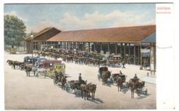 Interlaken Bahnhofplatz Farbelitho Mit Leben Um 1908 - BE Bern