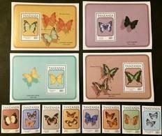# Tanzania 1991**Mi.894-905 Butterflies , MNH [20;132] - Schmetterlinge