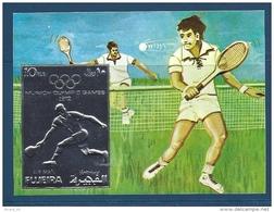 BF Timbres Argent (silver Stamp)  Fujeira, Jeux Olympiques De Münich, Tennis - Tennis