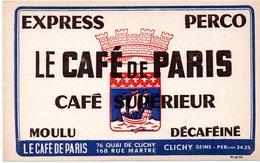2 Buvards Café Massat à Bron Et Café De Paris à Clichy. 2 Photos. - Café & Thé