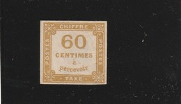 France Taxe N° 8 Neuf Sans Gomme Fraicheur Postale - 1859-1955.. Ungebraucht