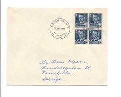 DANEMARK AFFRANCHISSEMENT COMPOSE SUR LETTRE POUR LA SUEDE 1949 - Affrancature Meccaniche Rosse (EMA)