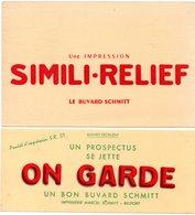 2 Buvards Imprimerie Marcel Schmitt à Belfort. - Café & Thé