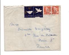 DANEMARK AFFRANCHISSEMENT COMPOSE SUR LETTRE POUR LA FRANCE 1955 - Affrancature Meccaniche Rosse (EMA)