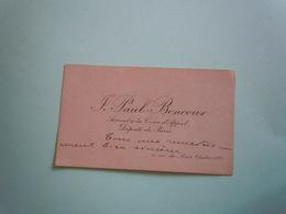 Carte De Visite Autographe JOSEPH PAUL BONCOUR (1873-1972) DEPUTE DE PARIS - SOCIALISME - Autographs