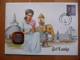 (2) SRI LANKA  COIN LETTER 1986 SEE SCAN. - Sri Lanka (Ceylan) (1948-...)