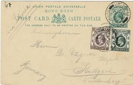 1910, Stationary Hongkong 1 C. , Addit. Franking,  A2816 - Hong Kong (...-1997)