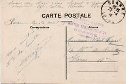 Hopital Temporaire N°26 à Roanne - 1916 - 13ème Corps D'armée - SSA Service De Santé - Postmark Collection (Covers)