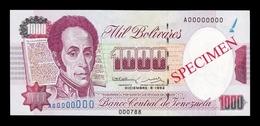 Venezuela 1000 Bolívares 1992 Pick 73Bs Specimen SC UNC - Venezuela