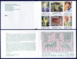 SUEDE Swerige 1481/86 Carnet Peintres Suédois Des Années 1920 - Art