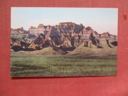 Ancient Architecture ---- Hand Colored ------- Badlands National Monument   South Dakota     Ref 3775 - Etats-Unis