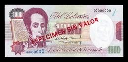 Venezuela 1000 Bolívares 1998 Pick 76Cs Specimen SC UNC - Venezuela