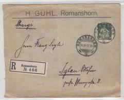 H. Guhl, Romanshorn Company Letter Cover Posted Registered 1912 To Iglau B191215 - Briefe U. Dokumente