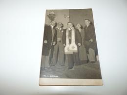 ALPES MARITIMES LA GAUDE SOUVENIR DU 15.1.1949 GROUPE DE PERSONNALITES A L'INTERIEUR DE L'EGLISE - Frankreich
