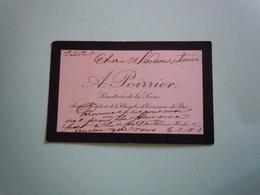 Carte De Visite Autographe Signée FRANCOIS ALCIDE POIRRIER (1832-1917) SENATEUR DE LA SEINE - Autographs