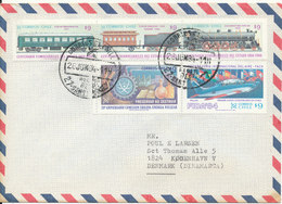Chile Air Mail Cover Sent To Denmark 26-6-1984 Topic Stamps Nice Cover - Chile