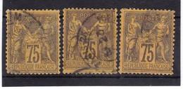 # Z.10899 France Republic 1884 - 90 Type II. 13 X Value 75 C. Used, Yvert 98, Michel 82: Pax & Mercur - 1876-1898 Sage (Tipo II)