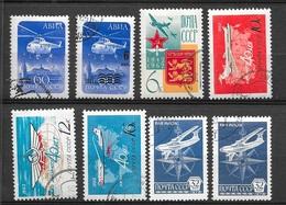 Russie Poste Aérienne N° 112  à 117 Et 130 Et 131 Oblitérés  B/ TB   Soldé  Le Moins Cher Du Site  ! ! ! - Used Stamps