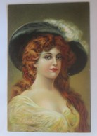 Künstlerkarten, Frauen, Mode, Hutmode,  1908, E.S. London ♥ (1862)  - Künstlerkarten
